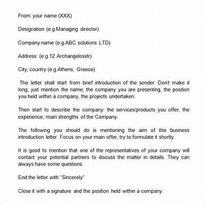sample business introduction letter 9 free documents in With self introduction email template