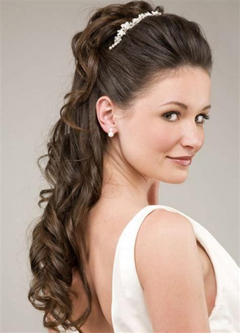 bridal hairstyle  tiara