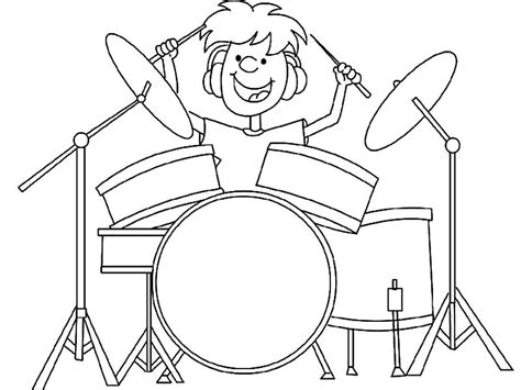 coloring set cat drums page coloring pages