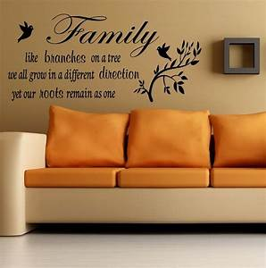 wall quote family like a branches on a tree wall sticker With wall art quotes