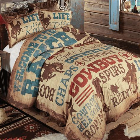 Western Bedding: Queen Size Cowboy Lifestyle Comforter