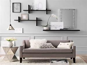 Living room storage shelves home wall