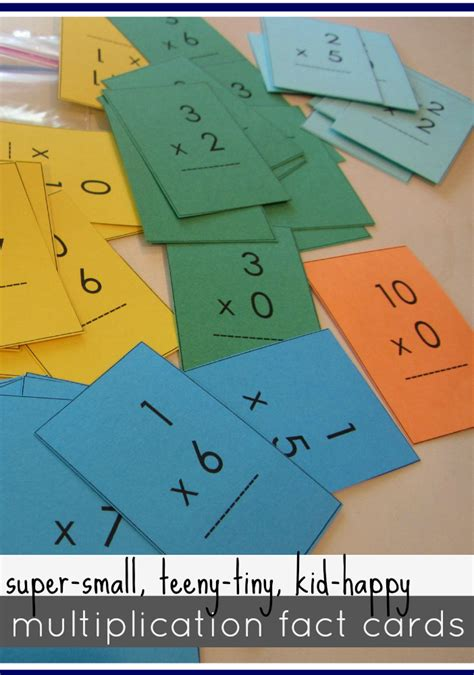 mastering multiplication tables  mini flash cards teach mama