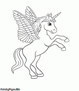 unicorn coloring pages coloring pages  kids