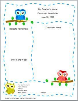 Free Templates For Teachers by Best 25 Newsletter Template Free Ideas On
