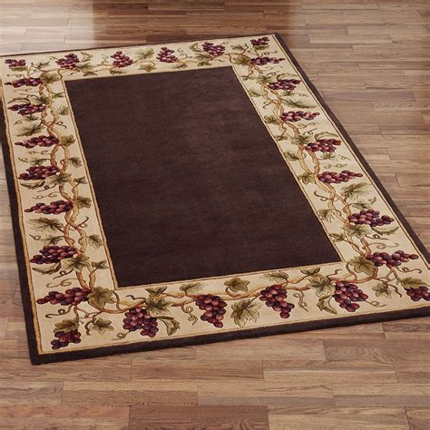 Kitchen Area Rugs by Wine And Grapes Kitchen Rugs Search Stuff To