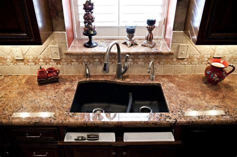 black granite composite undermount sink for the home