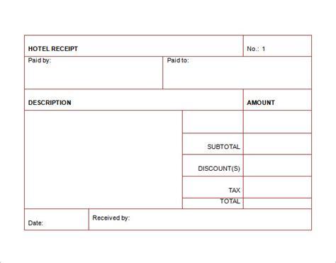 hotel receipt template hotel receipt template 12 free word excel pdf format free premium templates