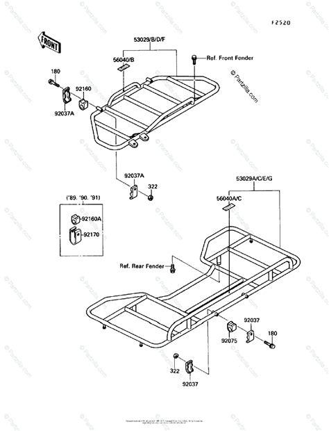 Kawasaki Atv Oem Parts Diagram For Carrier