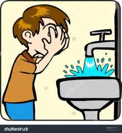 Boy Washing Face Clip Art