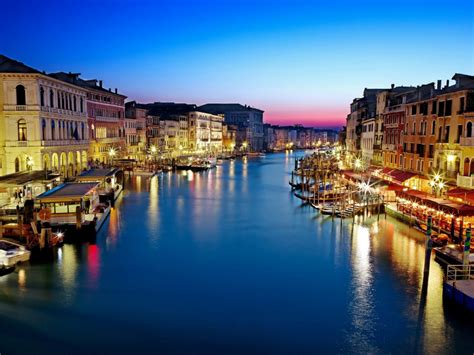 Bridge Canal Grande Venice Grand Canal Italy Buildings