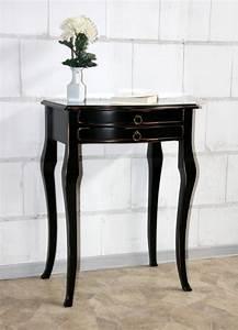 Beistelltisch Schwarz Holz : beistelltisch schwarz antik wandtisch konsolentisch wand konsole flur tisch holz ebay ~ Orissabook.com Haus und Dekorationen