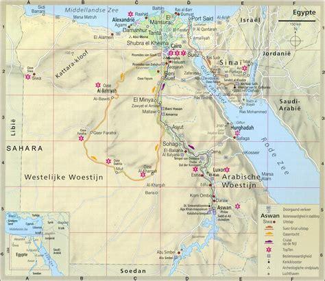 Egypte reisverslag, Landkaart