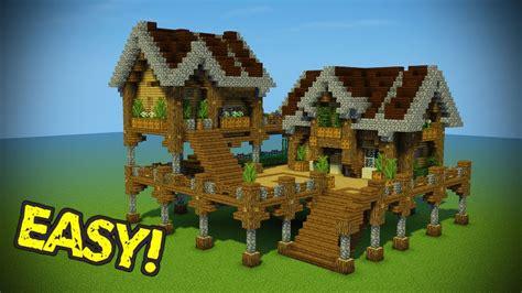 minecraft starter base tutorial wooden minecraft house youtube