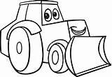 Bulldozer Coloring Shovel Mecanic Transportation Printable Drawing Getcolorings Kb Getdrawings Pages sketch template