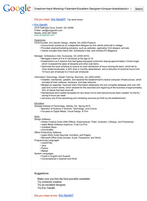 Find Employee Resumes by 13 Insanely Cool Resumes That Landed Interviews At