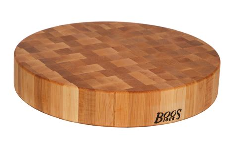 John Boos Round Chopping Block  Chinese Endgrain