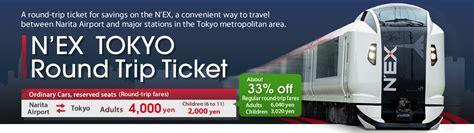 nex tokyo  trip ticket fares passes jr east