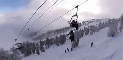 Skier Hit Ski Lift Double Backflip While