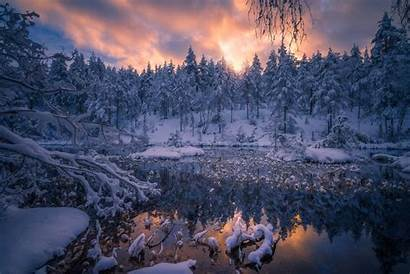 Winter Snow Peace Wallpapers Nature Pond Norway