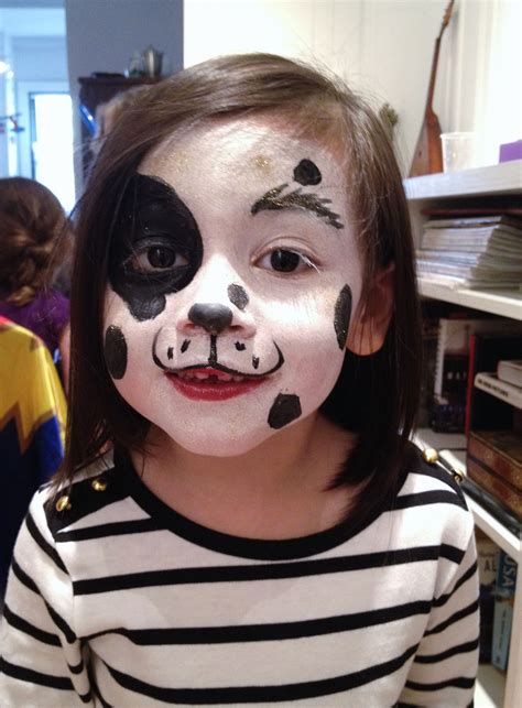 Puppy face painting Happy Hearts nyc Halloween