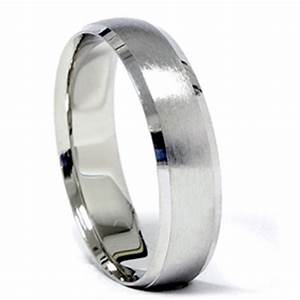 platinum wedding band mens brushed beveled ring ebay With platinum wedding rings ebay