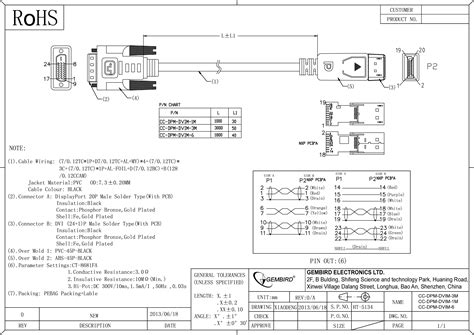 Displayport Dvi Adapter Cable Dpm Dvim