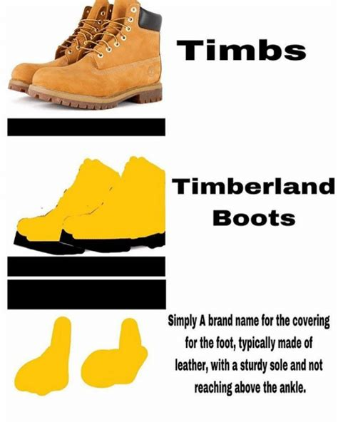 Timberland Memes - tim lbs timberland boots simply a brand name for the covering for the foot typically made of