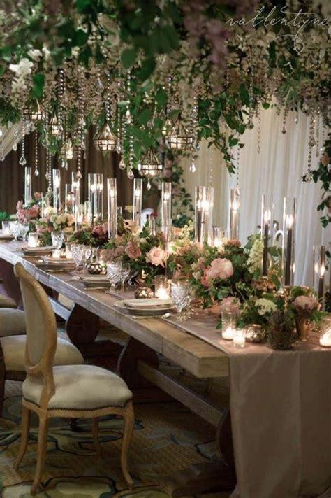 rustic indoor green wedding reception wedding reception