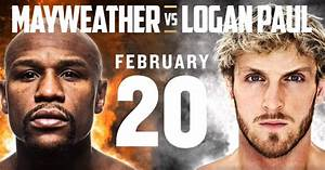 floyd mayweather vs logan paul when and what channel is