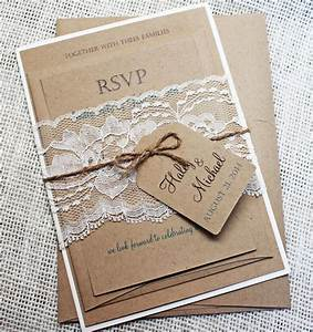 rustic meets elegance these handmade invitations are a With handmade wedding invitations supplies