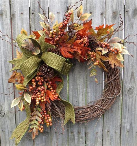 fall wreath fall berry wreath fall leaf wreath fall