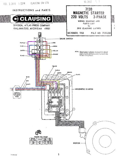 Magnetic Starter Wiring Diagram Color Clausing