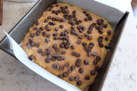 And so many asked for the recipe that i decided to make it again, this time taking photos. Chocolate Chip Coffee Cake - SALTYISH