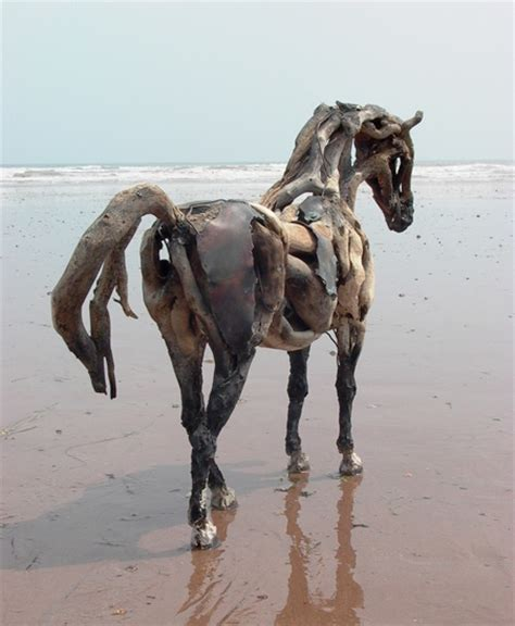 driftwood horse sculptures screw