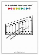 Xylophone Coloring Kindergarten Preschool Worksheets Number Numbers Printable Activities Worksheet Recognition Megaworkbook Shapes Colors Musical Letter Pattern Instruments Sheets Lessons sketch template