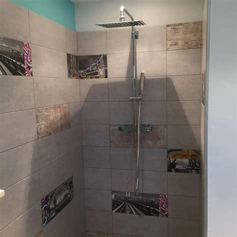béton ciré sur carrelage mural cuisine exemple salle de bain carrelage