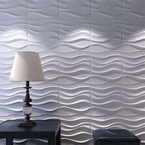 wall panels plant fiber white  interior decor  pcs