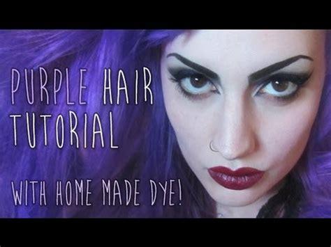 purple hair dye youtube