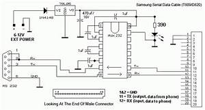 Samsung D820  T809 Cable Schematic Pinout And Wiring   Old