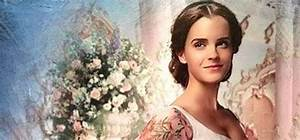 first look emma watson as belle in her royal wedding gown With emma watson belle wedding dress