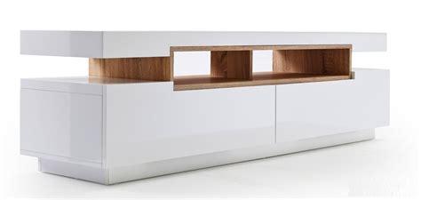meuble tv blanc et bois meuble tv blanc laqu 233 et bois id 233 es de d 233 coration int 233 rieure decor