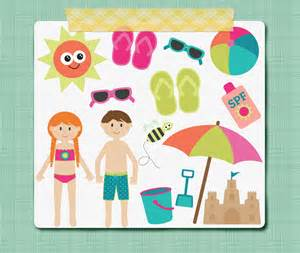 Summer Pool Party Clip Art