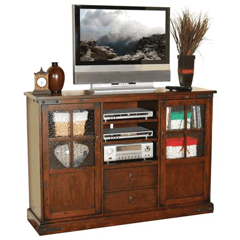 """Rustic Birch Tall Tv Stand, 42"""" Tall Tv Stand"""