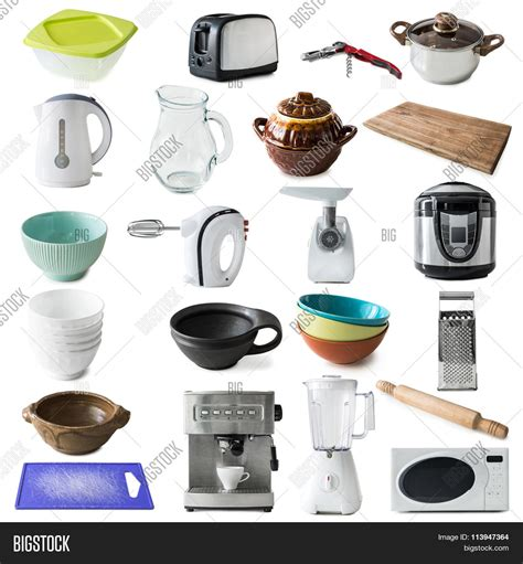 Collage Different Kinds Kitchen Image & Photo  Bigstock