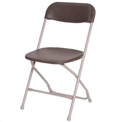 brown plastic folding chair rentals atlanta ga where to