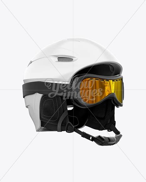 All free mockups consist of unique design with smart object layer for easy edit. Download Ski Helmet With Goggles Mockup - Right Half Side ...