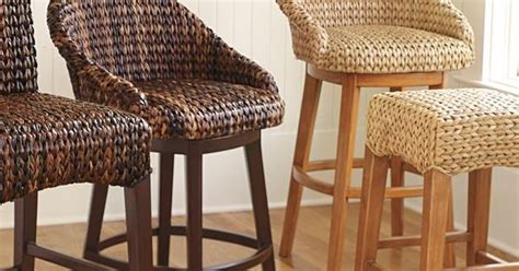 Seagrass Swiveling Counter Stools
