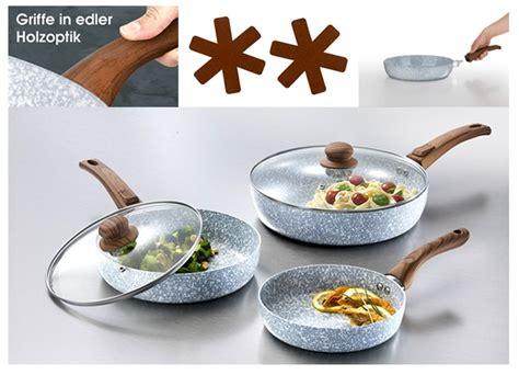 Marmor-keramik-pfannen-set, 7-teilig