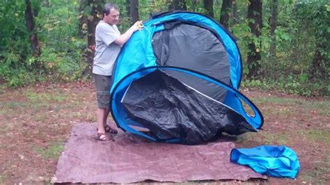 quechua waterproof pop  camping tent  seconds iiii  man double lining youtube